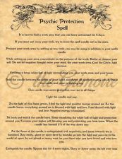 Psychic Protection Spell, Book of Shadows Pages, BOS Pages, Real Wicca Spell
