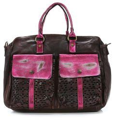 Campomaggi Lavata Handbag Leather brown 34 cm - C1476LAVLFP-7010 - Designer Bags Shop - wardow.com