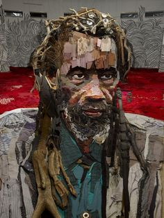 Anamorphic portrait by French artist Bernard Pras.