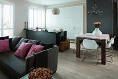 Na małej powierzchni mieszkania dobrze sprawdzi się salon z aneksem kuchennym, dzięki czemu wnętrza zachowają swoją podstawową funkcję. Podpowiadamy, jak urządzić i zaprojektować ładny i stylowy salon z aneksem kuchennym ZDJĘCIA.
