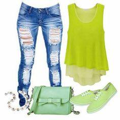 n Neon summer colors