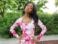 Floral Print Mermaid Maxi Dress by CourtneySamone on Etsy, $89.00