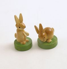 Vintage Easter Bunny Rabbits Erzgebirge Germany by efinegifts
