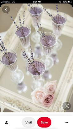 Escape into a dose of romantic French countryside inspiration with fresh lavender, lace, pearls and lilac blooms. Purple Wedding, Chic Wedding, Wedding Reception, Our Wedding, Dream Wedding, Lavender Wedding Theme, Drinks Wedding, Field Wedding, Summer Wedding