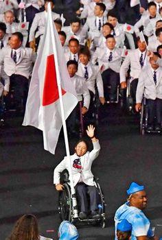 リオパラリンピックが開幕!日本の旗手は車いすテニス女子の上地結衣選手が務めた。パラ五輪 2016
