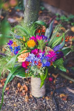 Wild Flowers Wedding Bouquet- really like how this is not so structured and I lovve the vareity of color
