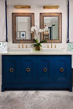 Blue Vanity, Brass Details