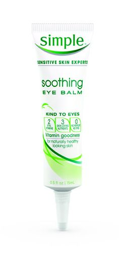 Simple Soothing Eye Balm  inexpensive, and works wonders