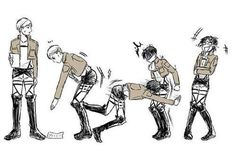 seriously?! well its funny BUT EREN FACE IS ..ITS ON ..... ITS ON HIS.. KYAAAAAAAAAAAAAAAAAAAAAAA
