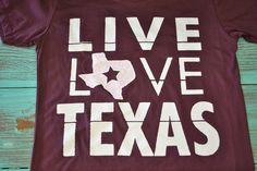 Southern Jewlz Online Store - Live Love Texas Shirt, $16.00 (http://www.southernjewlz.com/live-love-texas-shirt/)