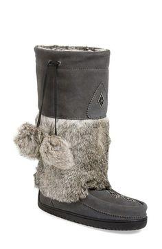 Manitobah Mukluks 'Snowy Owl' Genuine Fur & Suede Mukluk (Women) available at #Nordstrom