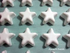 Set of 25 white chalks shaped Star for decoration favors or