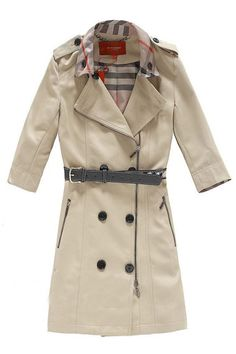 Seven Sleeve Lapel Belted Trench Coat