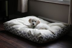 Plush dog beds by ByFaithCreations11 on Etsy, $35.00 >> Wow, that is a great price for a handmade dog bed!