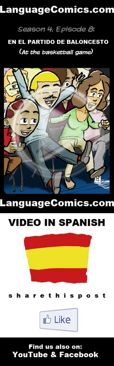 Practice your pronunciation and learn #Spanish with this episode and many more. Enjoy and share!  http://www.youtube.com/watch?v=jXkjkGKAJ-Y  ---------------------------------------------  Also find us on http://www.Facebook.com/LanguageComics and http://www.YouTube.com/LanguageComicsTeam