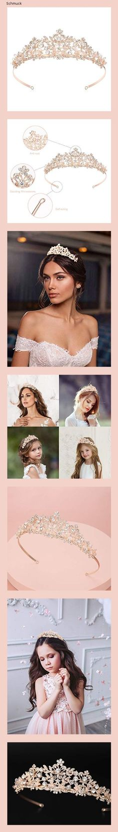 Makone Tiara Kristallkrone mit Strass-Kamm für Bridal Crown Hochzeit Proms Festzüge Prinzessin Parties Geburtstag (Kamm Stil-15G) - 14nh Partys, Beautiful, Movies, Movie Posters, Rhinestones, My Daughter, Crystals, Birthday, Wedding
