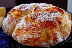 Kitchen Stories: No Knead Bread Knead Bread Recipe, No Knead Bread, Homemade Biscuits Recipe, Biscuit Recipe, Recipes With Yeast, Greek Recipes, Traditional Bread Recipe, Easy Homemade Snacks, Greek Cooking