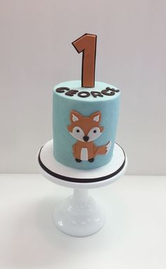 Buttercream Fox themed smash cake by Frost It Cakery
