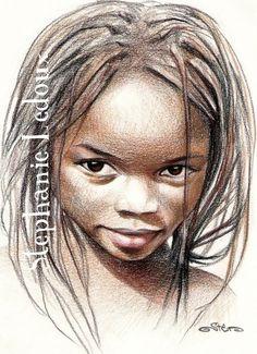 portrait Cool Art Drawings, Drawing Art, Tattoo Aquarelle, Collages, Ledoux, Atelier D Art, Colored Pencil Techniques, Pastel Portraits, Color Pencil Art