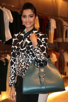 Bollywood diva Sonam Kapoor has one of the finest collections of stylish  leather bags. e367c9b14e313