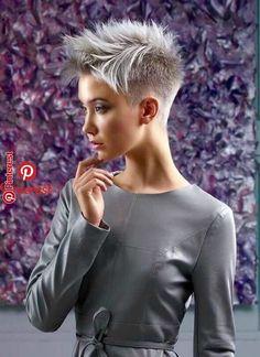 Sassy Haircuts, Short Pixie Haircuts, Punk Pixie Haircut, Edgy Pixie Hairstyles, Short Hairstyles For Women, Everyday Hairstyles, Diy Hairstyles, Short Hair Cuts, Edgy Short Hair
