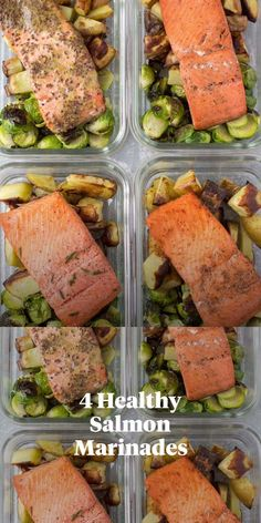 These Healthy Salmon Marinades are the perfect easy, delicious recipe! Made with minimal ingredients, paleo, keto and Whole30 – they're great for meal prep! Whether you make them on the grill or baked in the oven - everyone will love them! Made without butter, these low carb salmon recipes are great for meal prep, lunch, or dinner. Salmon Marinade, Marinated Salmon, Spicy Salmon, Grilled Salmon, Clean Eating Guide, Easy Clean Eating Recipes, Baked Salmon Recipes, Seafood Recipes, Healthiest Seafood