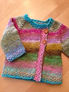 Just finished this baby sweater, using Noro Taiyo. It turned out so cute!