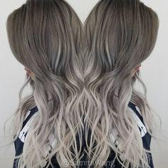 "sammi wang on Instagram: ""@fanola_usa @ellenvlora @haircoutureus ROOTY OMBRE #balayageombre#freehand#nofilter#hair#awesome#beautiful#stunning#ash#hairporn#instahair#btc#fanola#modernsalon#schwarzkoptusa#silverhair#behindthechair#behindthechair#LA#ig #colorspecialist#longhairdontcare#sammiwang#lovemyclient#girl#painting#hairporn#LA#yelp#olaplex"""