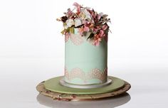 Pastel coloured wedding cake by Iced Affair.