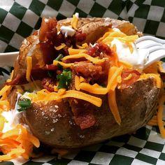 Loaded #bakedpotato #crazycarnivalfood #foodbuilding