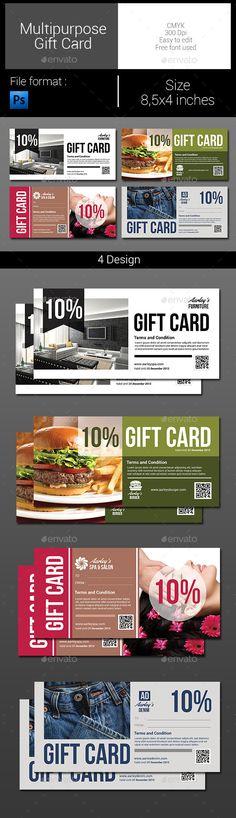 Multipurpose Gift Card Template PSD   Download: http://graphicriver.net/item/multipurpose-gift-card/9966465?ref=ksioks