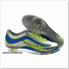 fea3d2d7a574 2013 New Nike Mercurial Vapor XV Limited Edition Sliver Blue Yellow Shoes  Store Mens Soccer Cleats