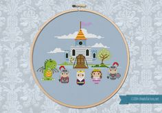 King Valiant's Castle  Cross stitch PDF pattern por cloudsfactory