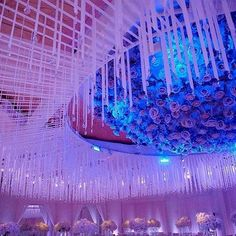 Thousands of crystals hung from the ceiling by the ever amazing @revelryeventdesign. Credits to @LindaHowardEvents and @yitzhakdalalphotography. #RevelryEventDesign #crystals #weddingdecor #bridalinspo #crystals #beautiful #love #girl #girlthings #getting