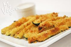 Baked Zucchini Fries #vegan #veganappetizers #veganrecipes #healthyrecipes