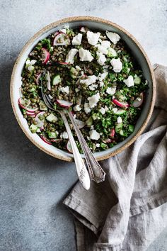 Cucumber Lentil Salad with Feta - Snixy Kitchen - Snixy Kitchen