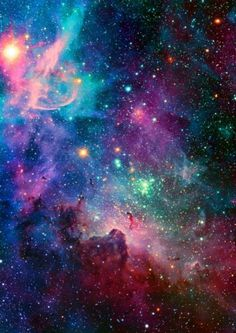 blue, captivating, colorful, endless, galaxy, green, impressive, infinity, mystical, nature, pretty, purple, rainbow, red, sparkles, stars, universe, wallpaper