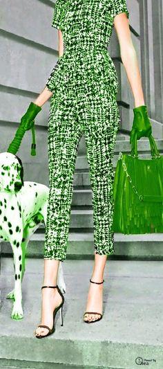 Green - Caroliner Herrera - www.popsugar.com/fashion-Carolina-Herrera-Gaspar-Dog-Bags-32191886