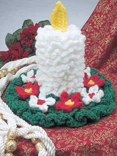 Crochet Candle - Betty Dowler  #Free #Crochet #Pattern free-crochet.com Membership site - membership is free and well worth it!