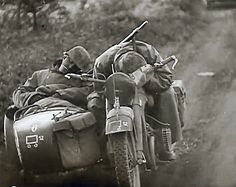 German advances into Russia were so swift these two Germans take a nap - Eastern Front, July 1941.