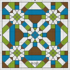 Free BGB Gizmo Color Symbol Cross Stitch Pattern - Free Geometric Abstract Chart  Design © Connie G. Barwick, licensed to About.com, Inc.
