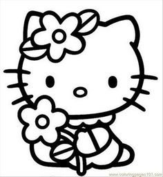 Hello Kitty Halloween Printables Hello Kitty Coloring Pages 1