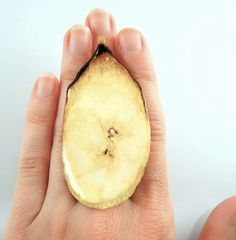 Hey, I found this really awesome Etsy listing at https://www.etsy.com/listing/151286550/sale-big-banana-ring-fruit-jewelry-vegan