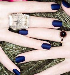 Matte royal blue polish