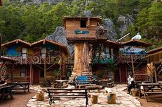 Cheap (But Fancy!) Hostels You Have To See #refinery29  http://www.refinery29.com/cheap-luxury-hostels#slide-2  Kadir's Tree Houses, Olympos, Turkey  These colorful bungalows and tree houses in the woods are all your childhood dreams come true. Seasonal Rates (Per Night): From $30.The rates provided are the lowest prices available for a two-night stay in March at time of publication.