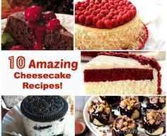 10 amazing cheesecake recipes!