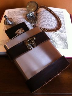 Brown Leather Flask Holder / Holster with 18 oz by FiendishWear, $39.00