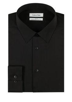 Calvin Klein Men's Steel Non-Iron Performance Slim Fit Dress Shirt - Black - 15.5 32/33