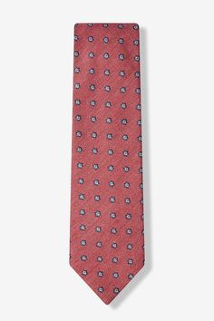 Coral Catania Floral Tie