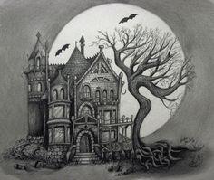 spooky house by *Handie on deviantART
